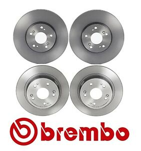 For Acura TSX 2009-2014 Front and Rear UV Coated Brake Disc Rotors Kit Brembo