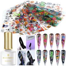Halloween Nail Art Foil Transfer Stickers Foils Printing Gel DIY Kit BORN PRETTY