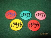 "VTG 24th Monterey Jazz Festival ""1981"" Souvenir Pinbacks (5) 1.25""s Diameter"