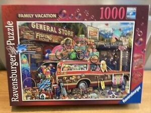 Ravensburger 1000 Piece Jigsaw Puzzle FAMILY VACATION Completed Once From New 🧩