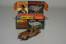 DD 1:43 CORGI TOYS 261 JAMES BOND 007 ASTON MARTIN DB5 GOLD NEAR MINT BOXED
