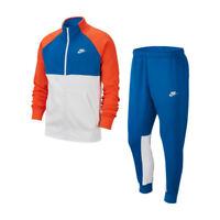 Nike Sportswear Tracksuit Tuta Uomo BV3017 477 Team Royal Team Orange White Whit