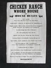 "(656) Old West Brothel Chicken Ranch Whore House Rules Novelty Poster 11""x17"""