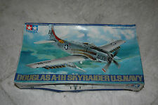 Tamiya 61058 1/48 Scale Model Aircraft Kit U.S.Navy Douglas A-1H Skyraider RARE!