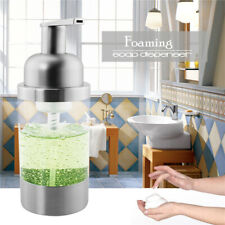 1X Soap Dispenser Foaming Pump Countertop Bottle 304 Stainless Steel Dish