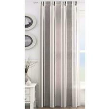 ORLANDO STRIPED 3 TONE VOILE CURTAIN PANEL SLOT TOP - CLEARANCE