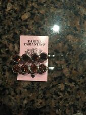 Tarina Tarantino Swarovksi Burgundy Crystal Hair Clip X2 NEW STUNNING