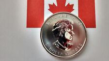 MONEDA DE PLATA PURA CANADA 5 DOLARES 1 ONZA  AÑO 2012 0.999/1000 SIN CIRCULAR.