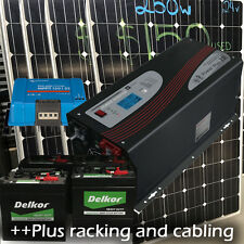 Off grid system 2kw solar | 3000w inverter/charger | 50amp Victron reg | 928 AH