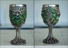 Greenman Wood Spirit Goblet Chalice Hand-Finished Fantasy Nature Superb Detail