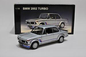 BMW 2002 Turbo Silver Rare 70502 Autoart 1/18
