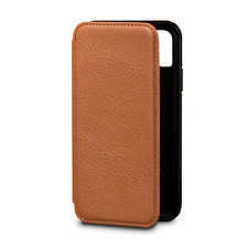 Case SENA Bence WALLET BOOK Genuine Leather for APPLE iPhone X, XS - Brown