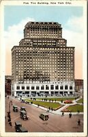 RARE - Fisk Tire - AD - Building New York City NYC NY Old Cars Postcard PC