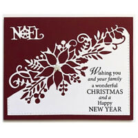 Cutting Dies Flower Xmas Christmas Poinsettia Greeting Card Craft Frame Metal