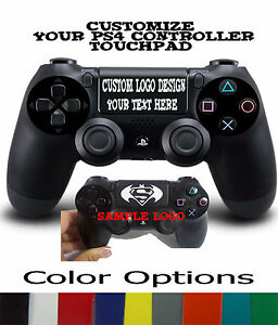 Personalized Playstation PS4 Controller Custom TouchPad Sticker Decal