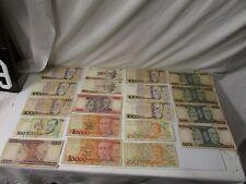 19 Banco Central Do Brasil ~ Bank Central Brazil Various Denomination Bank Notes
