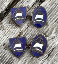 More details for sentinels of empire fascist blue shirts gents members enamel cufflinks scarce