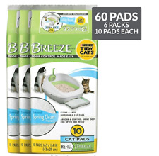 Purina Tidy Cats Breeze Litter System Cat Pad Refills - (6) 10 ct. boxes New !