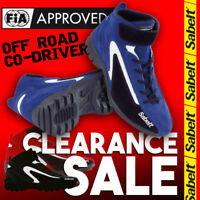 FIA Sabelt New Mecha MS-300 OFFROAD Shoes Blue Black Red Boots CLEARANCE SALE