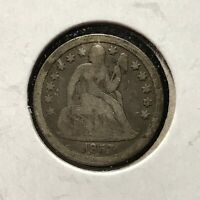 1857 10c SEATED LIBERTY DIME *NICE VG VERY GOOD PLUS COIN* LOT#AG00