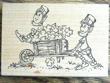 New ListingLeprechauns With Wheelbarrow Rubber Stamp By Art Impressions St. Patrick'S Day