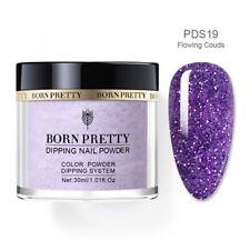 Born Pretty Dipping Powder - Large Jar 30g - Purple Glitter - *FLOWING CLOUDS*