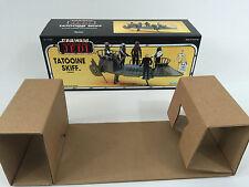custom vintage star wars rotj tatooine skiff box and inserts not potf