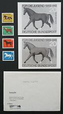 "Foto federal-essay 's 578/581 caballos 1969 ""Oldenburger"" 2 borradores proof rare! e353"
