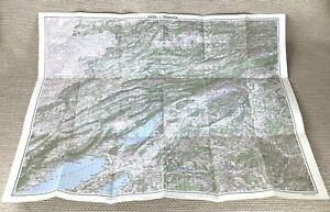 1946 Vintage Map of Switzerland Biel Bienne Bern Neuchatel Solothurn Delemont