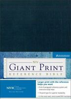 NIV Holy Bible Giant Print Reference Edition, Navy Leather-Look [ Zondervan ] Us