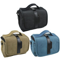 Canvas Photography Camera Video DV Bag Insert Case For Mirrorless Canon Nikon HQ
