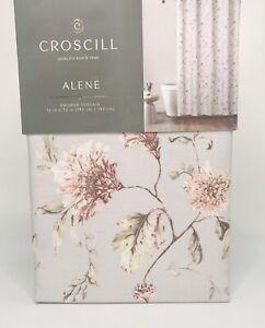 Croscill 100% Cotton Shower Curtain - Alene Gray - Cottage Floral
