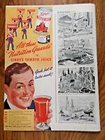 1942 Libby's Tomato Juice Ad