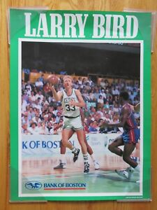 Rare 1987 Bank of Boston LARRY BIRD No. 33 BOSTON CELTICS Poster