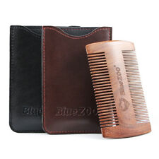 gold black sandalwood double sided beard styling shaping comb tool with PU bag