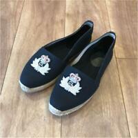 Christian Louboutin Espadrille Flat Shoes Mocha Hin Valley Shoes Black US 6 USED