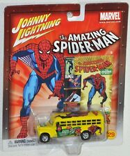 Johnny Lightning Marvel 29 The Amazing Spider Man #259 56 Chevy School Bus 2003