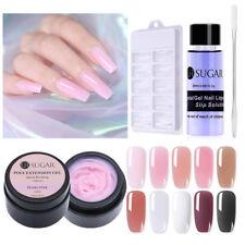 UR SUGAR Clear Pink Quick Extension Poly Builder UV Gel Polish Slip Solution