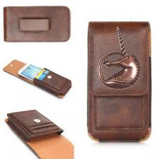 Retro 3D Unicorno PU Pelle Custodia Flip Cover Pouch Sacchetto Cintura-Clip Fondina per Asus