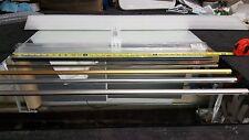 """3/8"""" SHOWER DOOR PARTS SEALS  SWEEP VINYL WATER CLEAR &  ALUMINUM DAM COLORS"""