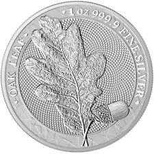 Germania Mint Oak Leaf Eichenlaub 5 Mark 2019 1 oz 999 Silber mit Zertifikat