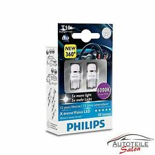 Philips Wedge base (T10) X-tremeVision 6000k Xenon LED  W5W 127996000KX2