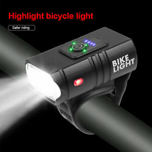 Bike Front LED Lamp Cycling Head Light Waterproof USB Rechargeable Bicycle Lamp