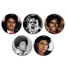 5x Michael Jackson Pop Star Soul 80's 25mm / 1 Inch D Pin Button Badges