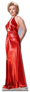 MARILYN MONROE RED GOWN DRESS CARDBOARD CUTOUT STANDUP