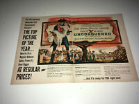 UNCONQUERED Vintage Movie Trade Ad 1947 Gary Cooper Frontier War Poster