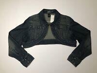 Venezia by Lane Bryant Denim Bolero  New With Tags Size 14/16 Crop Long Sleeve