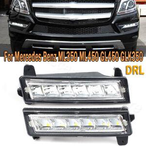 2x LED Daytime Running Light Fog Lamp FIT For Mercedes Benz W164 ML350 X204 X164