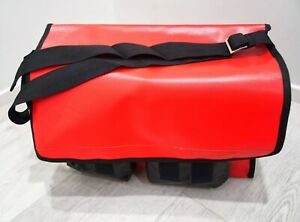 Large  Crib Bag, Red with Black Pockets