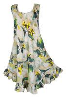 Hippie Lagenlook Tunic Top Dress Boho Beach Kaftan Size 18 20 22 24 26 28 30